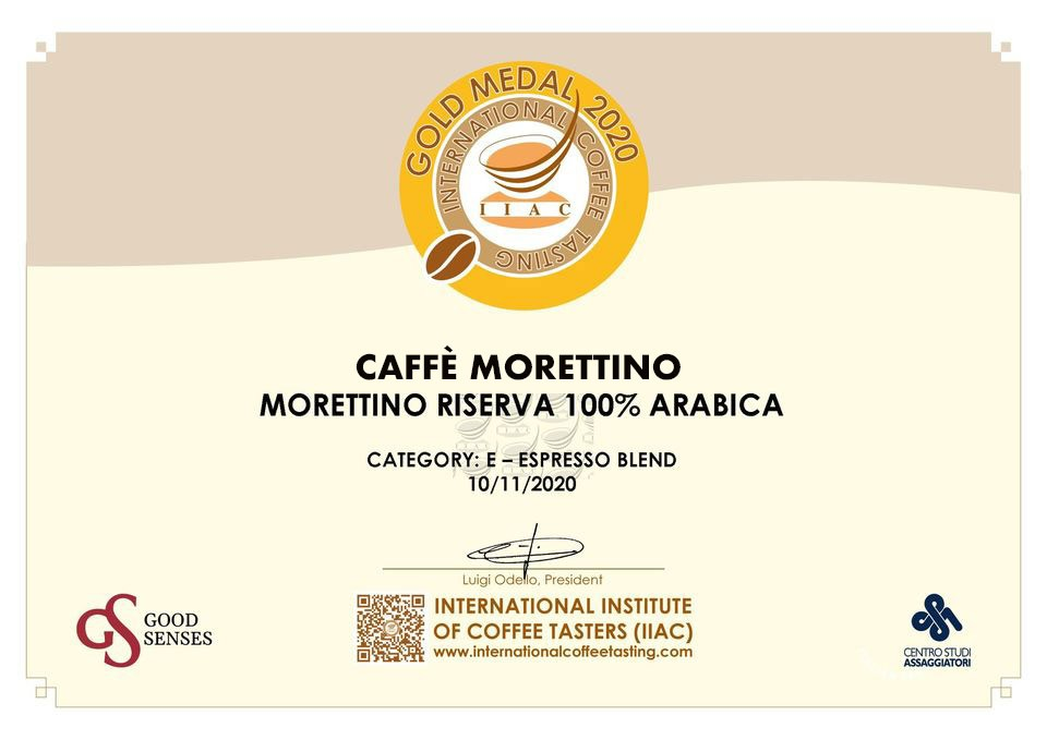 "Medaglia d'oro per Morettino all'International Coffee Tasting, le ""Olimpiadi"" del caffè"