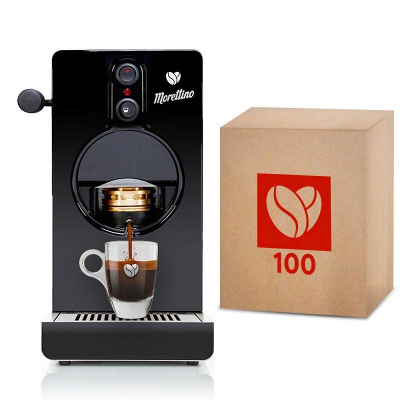 Macchina Morettino Espresso al Quadrato Black - Gift Box Mediterraneo