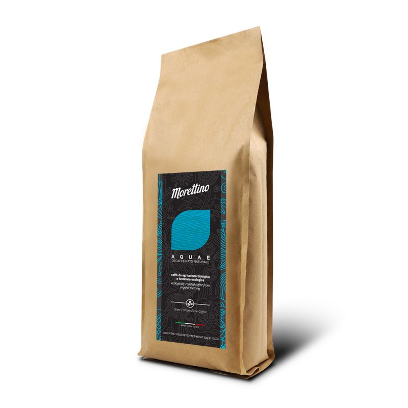 Aquae - caffè in grani decaffeinato naturale biologico 500g