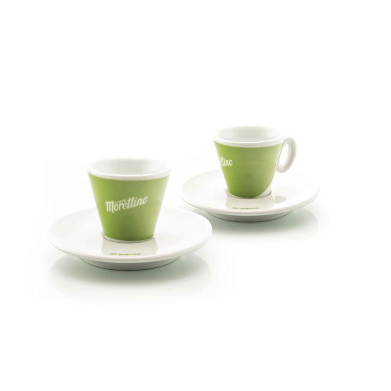 2 Tazze Espresso Morettino Bio - Verde