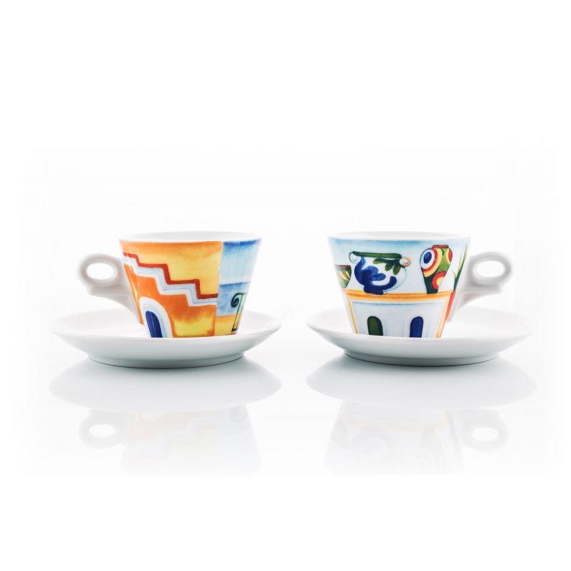 2 Tazze Cappuccino Morettino Coffee Art Egeo