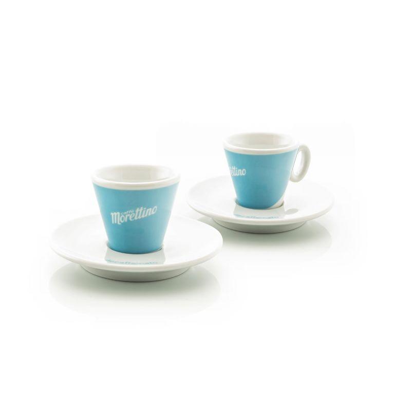 2 Tazze Espresso Morettino Decaffeinato - Azzurro