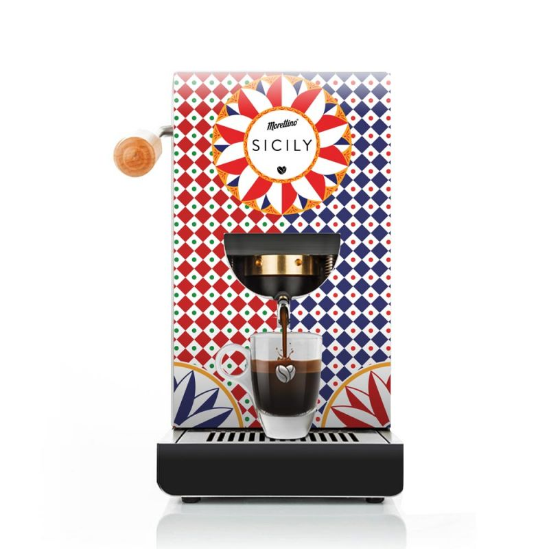 Cover Macchina Espresso al Quadrato Morettino Coffee Art - Collezione Sicily - Carretto Siciliano