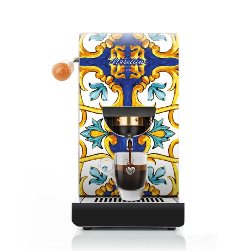 Cover Macchina Espresso al Quadrato Morettino Coffee Art - Collezione Caltagirone