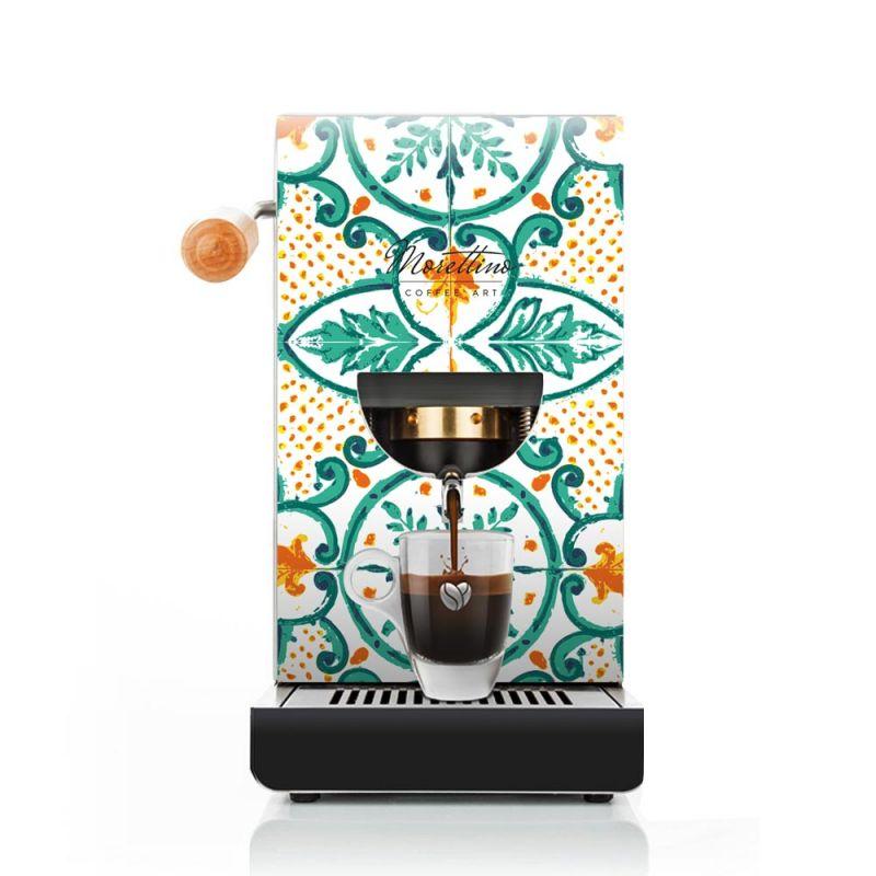 Cover Macchina Espresso al Quadrato Morettino Coffee Art - Verde