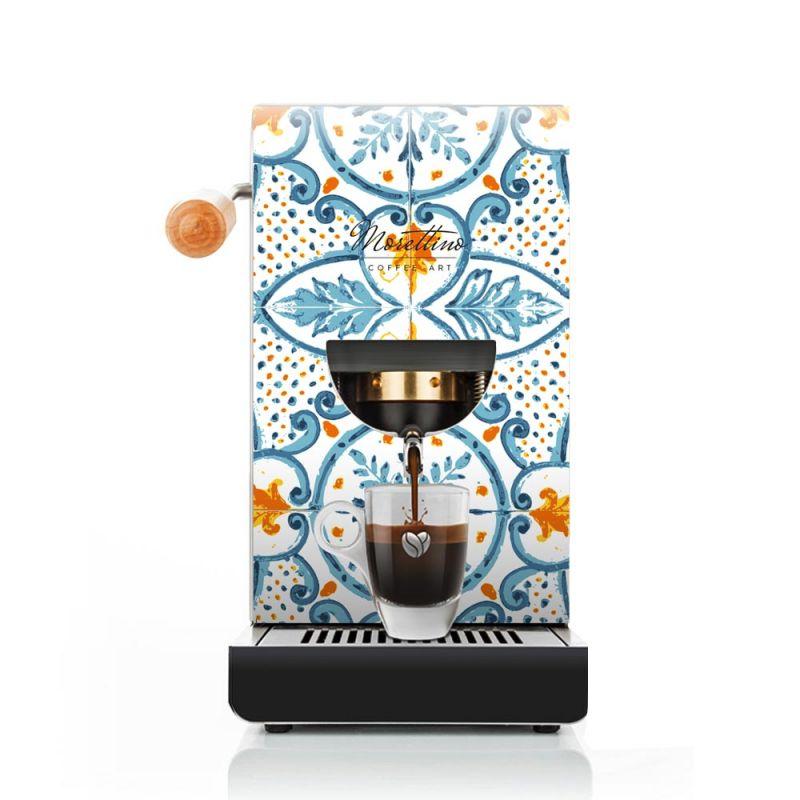 Cover Macchina Espresso al Quadrato  Morettino Coffee Art - Blu