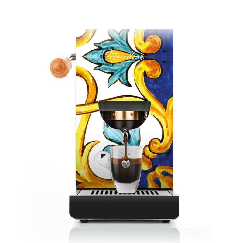 Cover Macchina Espresso al Quadrato Morettino Coffee Art - Collezione Caltagirone dettaglio