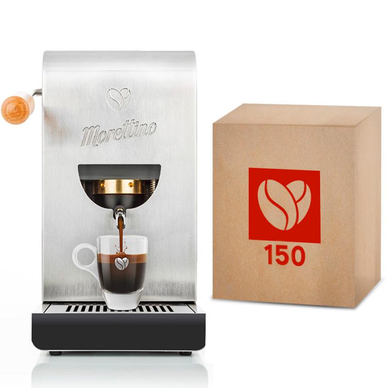Macchina Morettino Espresso al Quadrato Silver - Gift Box Mediterraneo