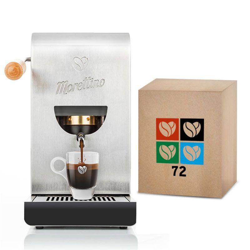 Macchina Morettino Espresso al Quadrato Silver - Gift Box Coffee Lovers