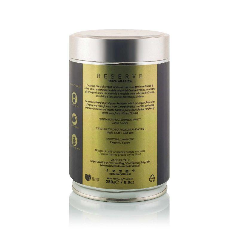 Riserva 100% Arabica - caffè macinato fresco - latta da 250g