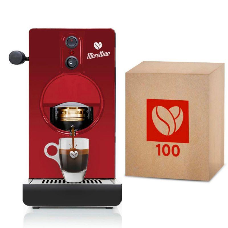 Macchina Morettino Espresso al Quadrato Red - Gift Box Mediterraneo