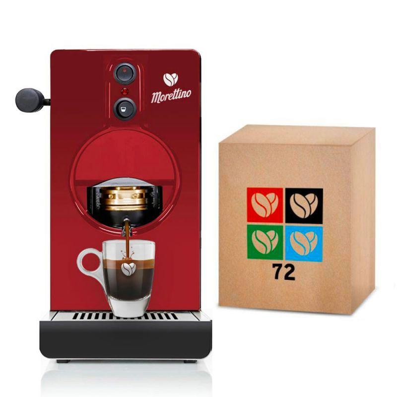 Macchina Morettino Espresso al Quadrato Red - Gift Box Coffee Lovers